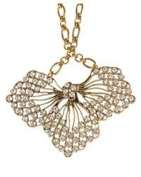 Lulu Frost - Metallic Gold-Tone Cactus Flower Pendant Necklace - Lyst