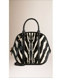 Burberry - Black The Large Orchard In Graphic Print Calfskin - Lyst