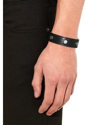 Balenciaga | Black Arena Leather Cuff for Men | Lyst