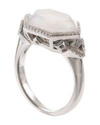 Ivanka Trump - White Pave Diamond Crossover Ring - Lyst