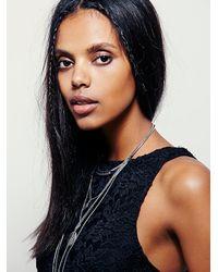 Free People - Black Lace Crop Top - Lyst