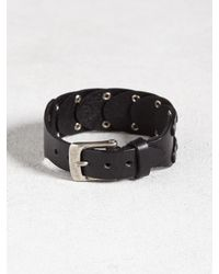 John Varvatos | Black Sectional Studded Leather Cuff for Men | Lyst