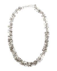 R.j. Graziano - Metallic Silvertone Leaf Drop Necklace - Lyst