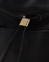 Ted Baker | Black Stab Stitch Leather Bucket Bag | Lyst