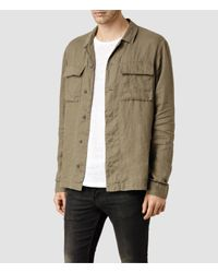 AllSaints - Natural Jutland Shirt for Men - Lyst