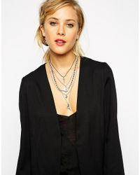 ASOS - Metallic Solstice Multi Row Choker Necklace - Lyst