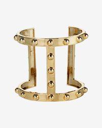 Asha - Metallic Open Studded Cuff - Lyst