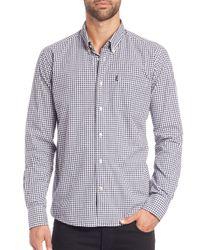 Barbour | Blue Gingham Cotton Shirt for Men | Lyst