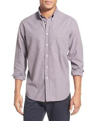 Billy Reid - Red 'tuscumbia' Standard Fit Houndstooth Check Sport Shirt for Men - Lyst