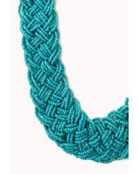 Forever 21 - Blue Statement Multi-Braided Choker - Lyst