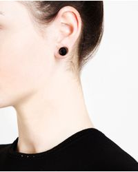 Givenchy | Black Magnetic Studded Crystal Earrings | Lyst