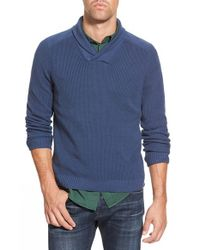 Eddie Bauer | Blue 'river Rock - Ilaria Urbinati Collection' Trim Fit Shawl Collar Pullover Sweater for Men | Lyst