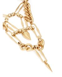 Ela Stone - Metallic 'naomie' Spike Chain Plastron Necklace - Lyst