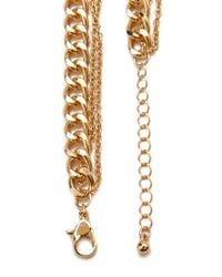 Forever 21 | Metallic Faux Pearl Chain Necklace | Lyst