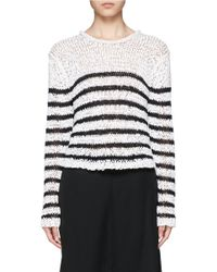 T By Alexander Wang | Multicolor Stripe Ribbon Knit Top | Lyst