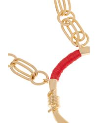 Aurelie Bidermann | Red Gold-Plated And Cotton Necklace | Lyst