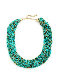 Zad Fashion Inc. | Blue Glitz Mob Necklace In Turquoise | Lyst