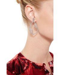 Joelle Jewellery - 18K White Gold Lace Drop Earrings - Lyst