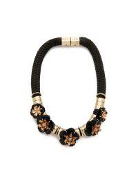 Holst + Lee - Volcanic Flower Necklace - Black - Lyst