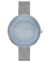 Skagen - Blue Women's Gitte Stainless Steel Mesh Bracelet Watch 38mm Skw2318 - Lyst