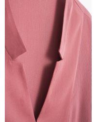 Mango | Pink Flowy Blouse | Lyst
