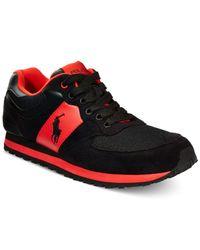Polo Ralph Lauren | Black Slaton Pony Sneakers for Men | Lyst