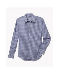 Theory | Blue Cotton Gingham Dress Shirt for Men | Lyst
