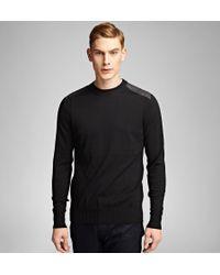 Belstaff - Black Ridgewell Crew Neck Sweater for Men - Lyst