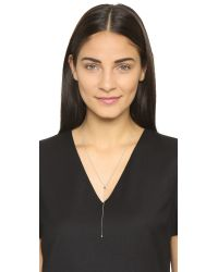 Vita Fede - Metallic Marquis Lariat Necklace - Silver/clear - Lyst