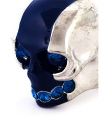 Alexander McQueen | Blue Skull Cocktail Ring | Lyst
