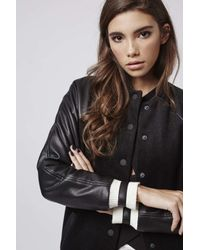 TOPSHOP | Black Longline Bomber Jacket By Kendall + Kylie At | Lyst