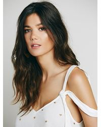 Free People - White Sensual Embroidered Drippy Tank - Lyst