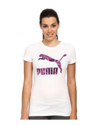 PUMA - White Archive Logo Tee - Lyst