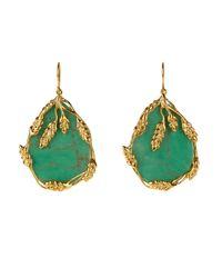 Aurelie Bidermann - Green Francoise Bakelite & Gold-plated Earrings - Lyst