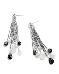 David Yurman - Metallic Bead Tassel Large Drop Earrings With Black Spinel & Pearls - Lyst