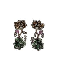 Wendy Yue | Multicolor Tsavorite Flower Earrings | Lyst