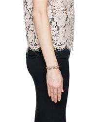 Valentino | Pink 'rockstud' Skinny Patent Leather Bracelet | Lyst