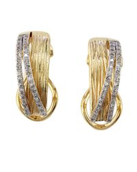Effy | Metallic Doro Diamond And 14k Yellow Gold Earrings | Lyst