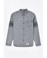 Undefeated - Gray Lineman Button-down Shirt for Men - Lyst