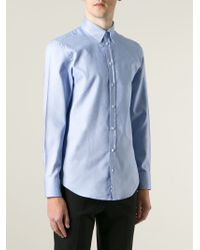 Emporio Armani - Blue Classic Shirt for Men - Lyst