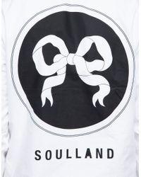 Soulland - White Ribbon Shirt for Men - Lyst