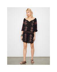 Denim & Supply Ralph Lauren - Black Embroidered Peasant Dress - Lyst