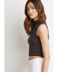 Forever 21 | Gray Mock-neck Cropped Sweater You've Been Added To The Waitlist | Lyst