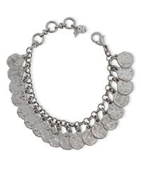 Lucky Brand - Metallic Hammered Coin Charm Bracelet - Lyst