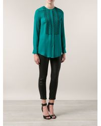 Veronica Beard - Blue Embroidered Tunic - Lyst