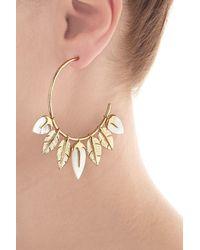 Aurelie Bidermann - Metallic Aurélie Bidermann Thalita 18kt Gold Plated Earrings With Mother Of Pearl - Lyst