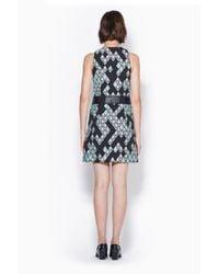 3.1 Phillip Lim - Green Zip Front A-Line Dress - Lyst