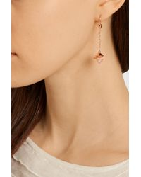 Eddie Borgo - Pink Pyramid Pendulum Rose Gold-Plated, Agate And Quartz Earrings - Lyst