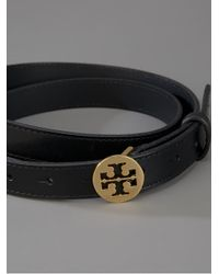 Tory Burch - Black Thin Strap Belt - Lyst