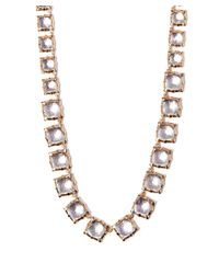 Larkspur & Hawk | Long Light Pink Quartz Bella Graduated Riviere Necklace | Lyst
